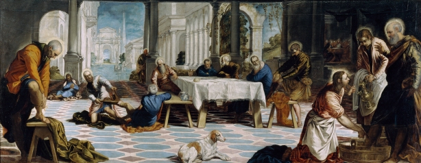 El Lavatorio, by Tintoretto (1518-1594)via Wikimedia Commons