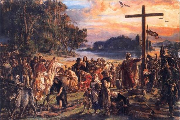 """Christianization of Poland on April 14, 966"" by Jan Matejko"